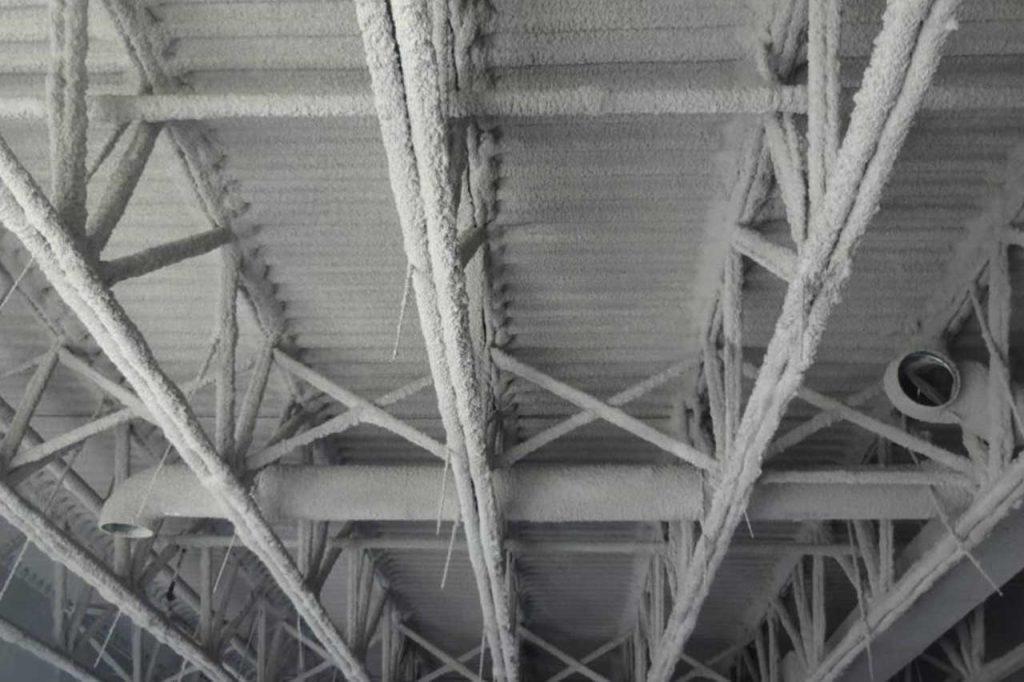 تصویر شماره 6 عایق کاری اسکلت فلزی با پوشش سیمانی ضد حریق