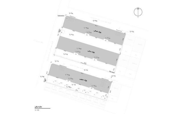 نقشه قرارگیری بلوک ها
